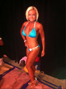 At her first bikini competition, after Parker.